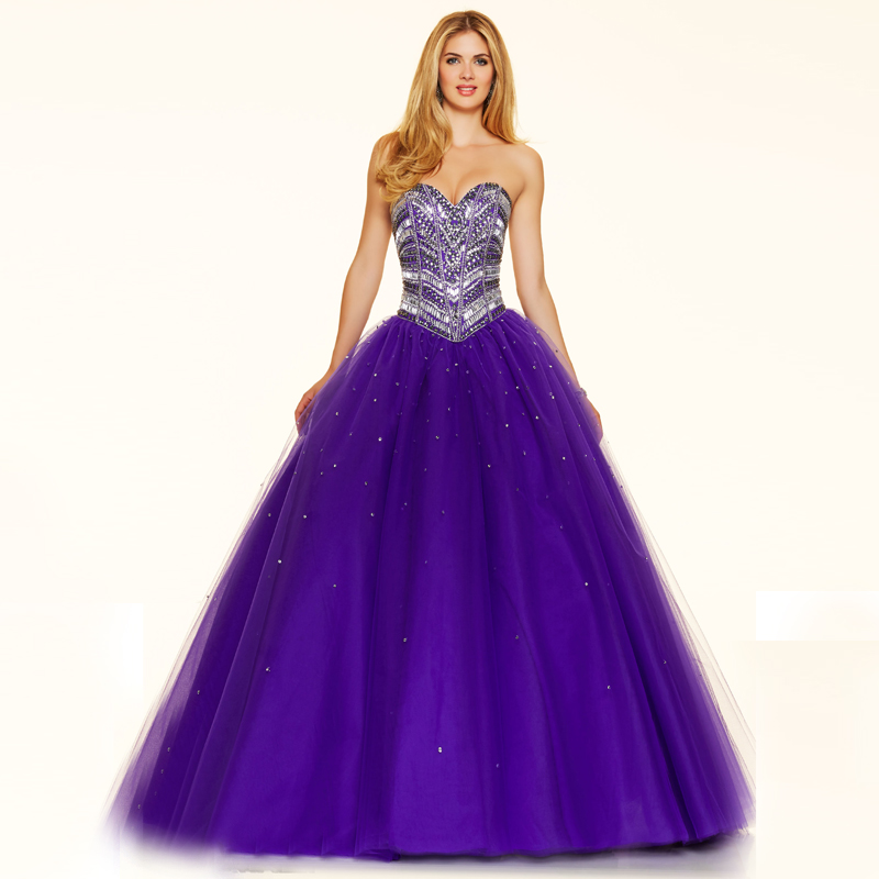 Popular Purple Ball Gown-Buy Cheap Purple Ball Gown lots from ...