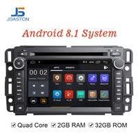 JDASTON Android 8,1 Автомобильный мультимедийный плеер для Chevrolet Tahoe Traverse BUICK Enclave GMC Yukon Tahoe Acadia автомобильный Радио gps DVD