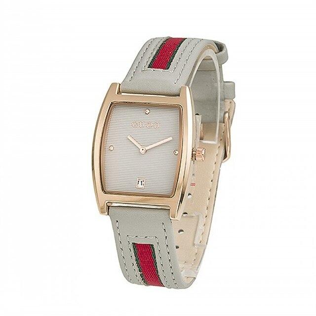 2a2f0917bce Moda Relógio GUOU Marca Reloj Mujer Senhora Relógios Feminino Genuíno  Pequeno Retangular Mostrador do Relógio Casual