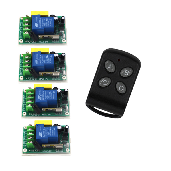 AC 220V 30A 1ch wireless remote control switch system 315/433mhz 1 Transmitter &4 receiver home Smart control system SKU: 5516 корсет с наручниками scandal corset with cuffs
