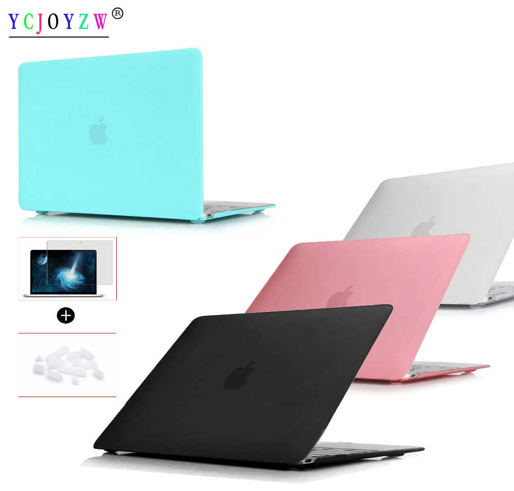 best sneakers fb851 61667 New Laptop Case Cover For Apple macbook Air Pro Retina 11 12 13.3 15 For  Pro 13 15 inch with Touch Bar+Screen film + dust plug