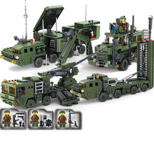 594pcs Children's Puzzle Assembled Military Field Army Forces Compatible Legoings city missile radar car toy model figures Brick(China)