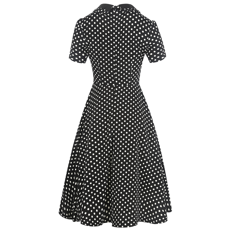 1940s 1950s Retro Style Short Sleeve Empire Waist Elegant Plaid ...