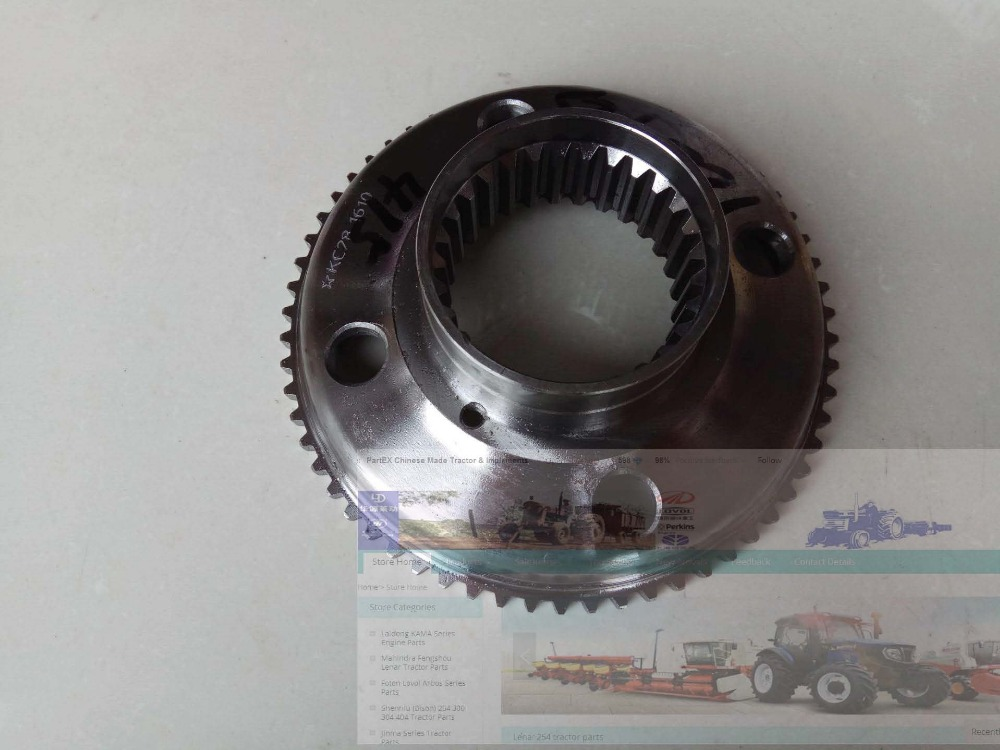 YTO 904 tractor parts, the gear ring backing, part number:20/5142047 yto x1004 tractor parts the sun gear part name