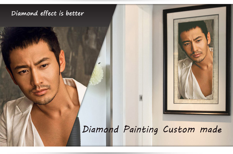 Diamond Embroidery photo customized Fashion Custom diamond mosaic 5d pictures Square Full diamond painting diy home