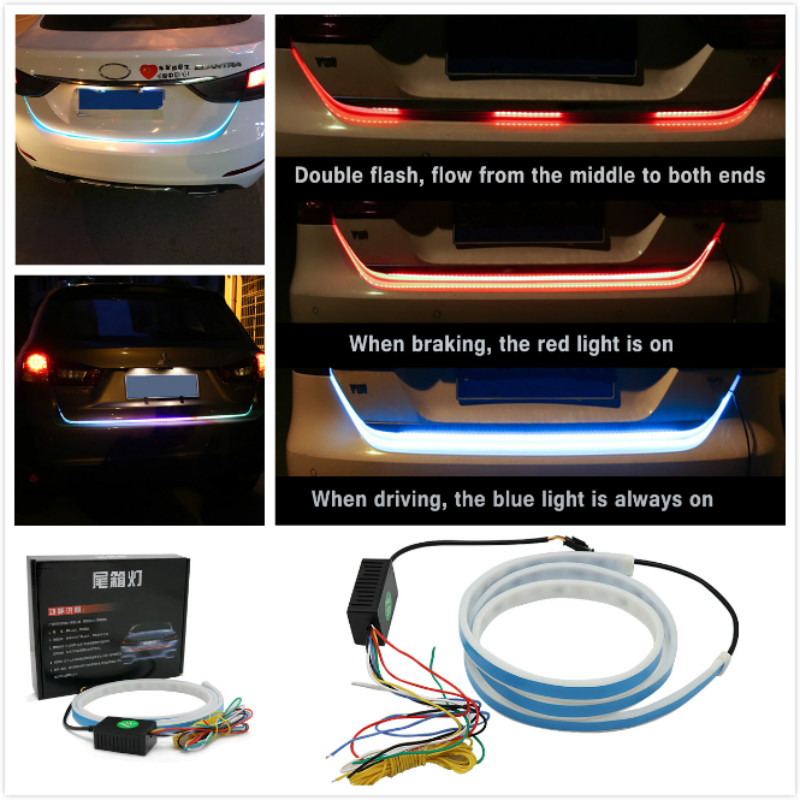Flowling Car Tail Turn Signal Strip Rear Braking Signal light For audi a4 a5 a6 b5 b6 b7 q3 q5 q7 rs quattro s line c5 c6 tt s3 car seat crevice interior seat cover car leakproof protective sleeve seam for audi 80 s line a5 a1 a3 a4 a6 a8 a7 tt q3 q5 q7 c5