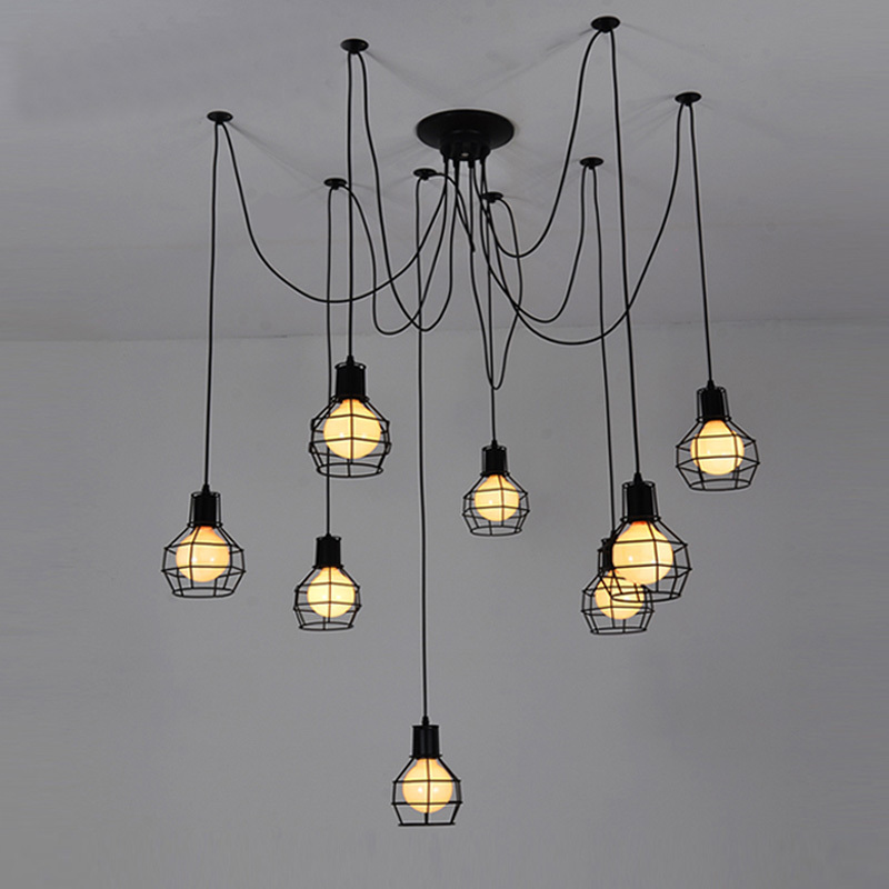 Vintage Metal Cage Bar Counter Pendant Lamp Spider Country Dining Room Restaurant Pendant Light Balcony Hallway Pendant Lamp redpower 21003 ford mondeo серый
