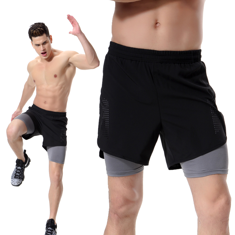 Men Sportswear Shorts 2017 Mens Loose Shorts Gyms Sporting Breathable Comfortable Shorts Homme Bodybuilding Men Leggings Short ...