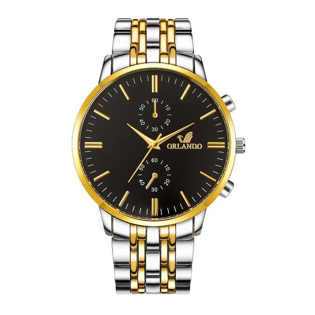 Luxury Orlando Clock Stainless Steel Men's Watch 1