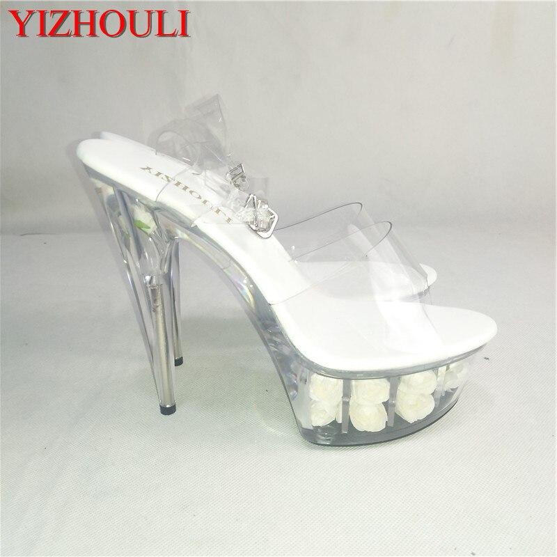 22f798cfa0c Aliexpress.com   Buy 14cm High Heeled Shoes Crystal Platform Sexy ...