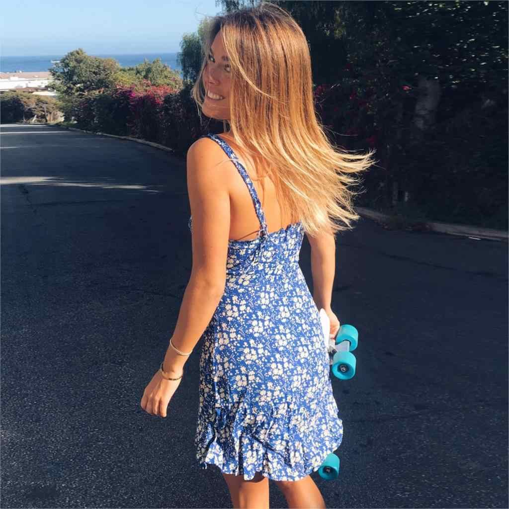 08788ee067 Jastie 2018 Summer Women Dress Floral Print Boho Hippie Beach Dresses  Ruffle straps Mini Dress Slim Short Female Vestidos