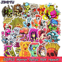 50 stks Gemengde Horror Skelet Sticker Graffiti Dark Cool Stickers voor DIY Bagage Laptop Skateboard Koelkast Fiets Telefoon Stickers