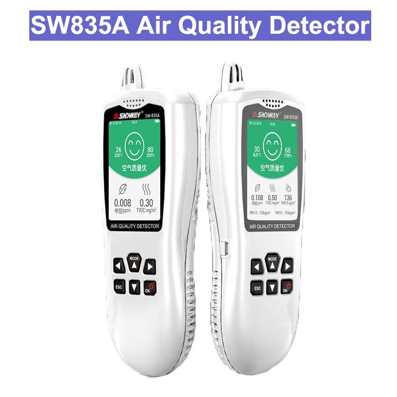 SW835A Numérique Air Qualité Moniteur TCOV Détecteur testeur moniteur De Gaz/analyseur De Gaz/Température humidité mètre outil De Diagnostic