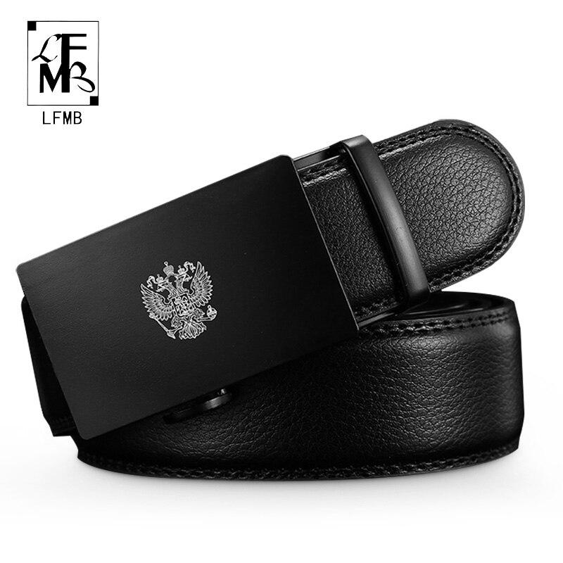 [LFMB]Fashion Designers Men Automatic Buckle Leather Luxury Belts Business Male Alloy Buckle Belts For Men Ceinture Homme