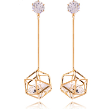 Christmas Earrings High quality Zircon Fashion jewelry Drop earrings Women Long earrings for women Hollow earrings E0556