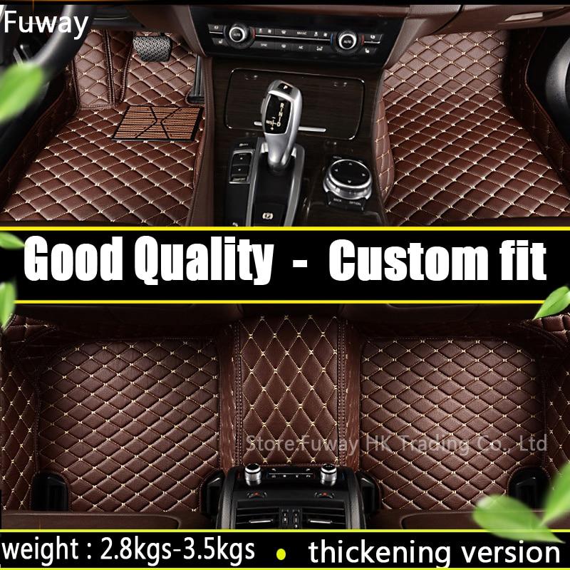 Good quality Custom car floor mat for BMW F10 F11 F15 F16 F20 F25 F30 F34 E60 E70 E90 1 3 4 5 7 GT X1 X3 X4 X5 X6 Z4 car-styling armored car mkii mat 19 34 1 72 fabbri