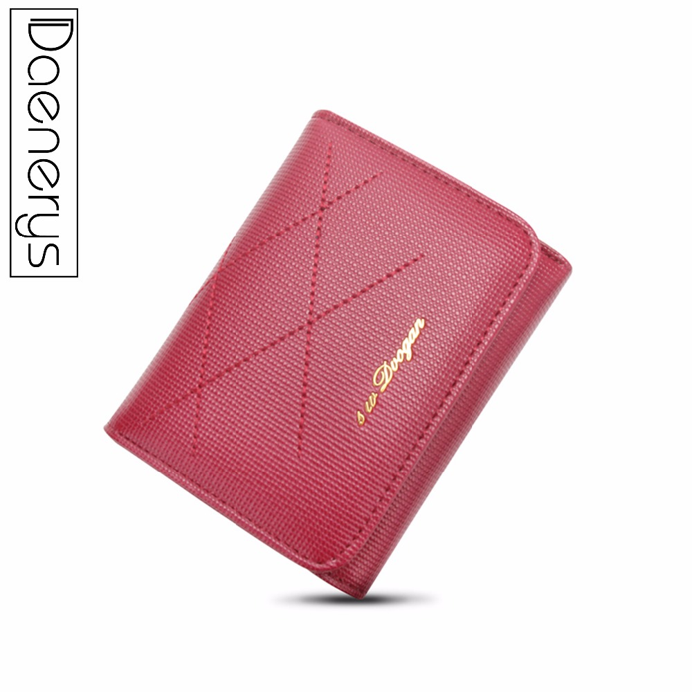 Coin Purse Short Cardholder Money-Clutch Small Female Brand Wallet Leather Women Fashion