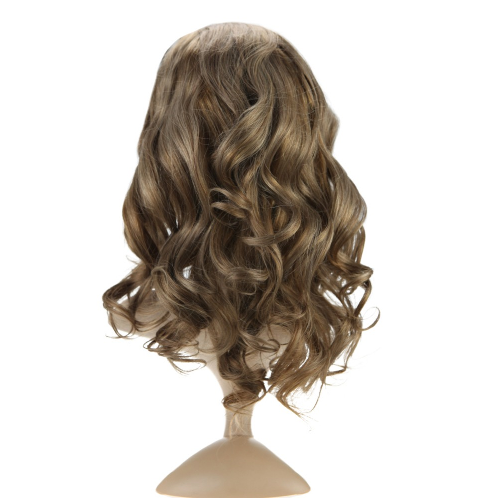 Full Shine Lace Front Hair Wig Color #8 Ash Brown Body Wavy Brazillian Hair 100% Remy Human Hair Extensions 150% Density Wig-in Jewish Wigs from Hair Extensions & Wigs    1