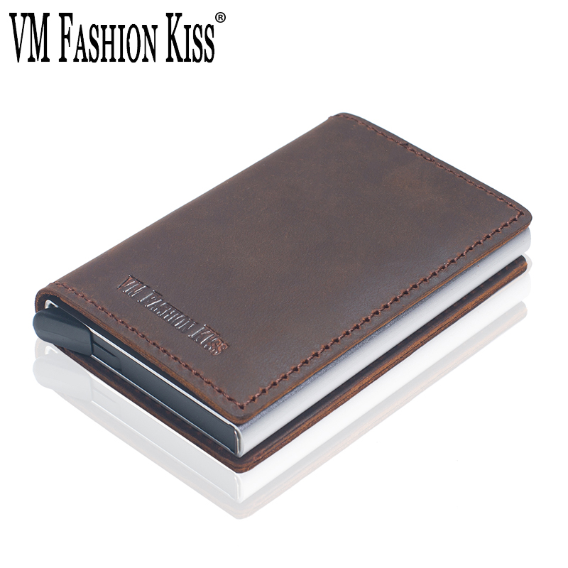 Other Business Name Credit Id Card Holder Box Brushed Stainless Steel Pocket Box Case Crease-Resistance