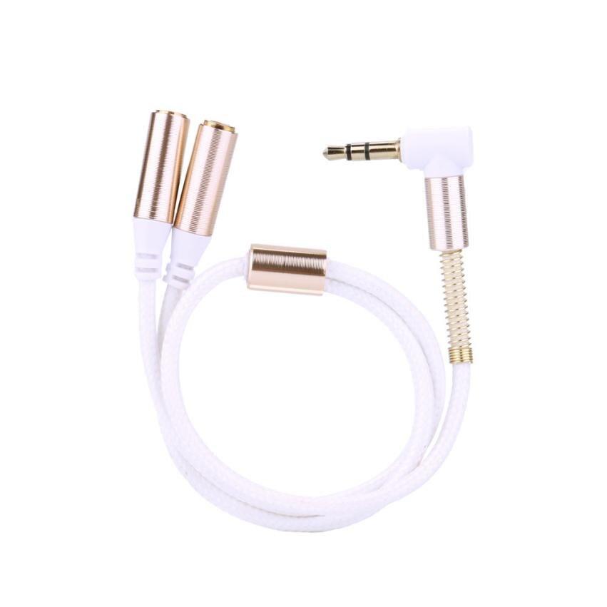 Zielsetzung 3,5mm Rechten Winkel Audio Aux Kabel Stecker Auf 2x Weibliche Stereo Verlängerung Kopfhörer Splitter Cord Zu Verkaufen Zubehör Und Ersatzteile