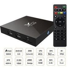 Amlogic S905X Quad Core X96 Android 6.0 Tv Box 2GD Ram 16 GB Rom Smart Tv Box Wifi HDMI 2.0A UHD 4 K * 2 K Plein 1080 P HD Media Player