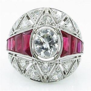 Болгарийское модное кольцо для вечеринок, обручальное кольцо с круглым белым камнем, обручальные кольца с розовыми кристаллами для женщин, ...