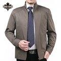 Мужские Куртки и Пальто Весна и Осень Бизнес Куртки Мужчины Молния Пальто Большой Размер Бренд Одежды Повседневная Пальто