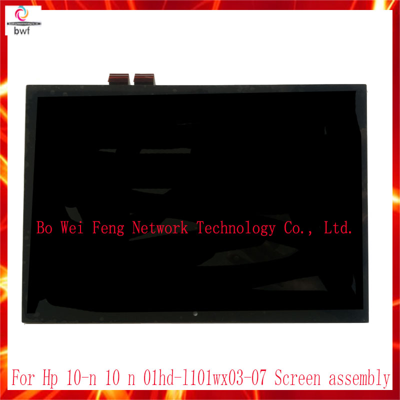 High Quality for HP 10-n 10 n 01hd-l101wx03-07 Touch Screen Digitizer with LCD Display Panel Full Assembly TV101WXM-NP0 LCD 10pcs dhl high quality for hp 10 n 10 n