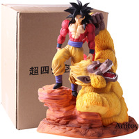 Dragon Ball Z Super Saiyan 4 Son Goku Gold Great Apes Scene Statue Resin Figure DBZ Action Figures Collectible Model Toy