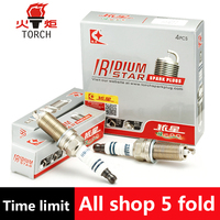 4pcs Lot China Original TORCH Double Iridium Spark Plugs KH6II For DONGFENG A30 AX7 H30 S30