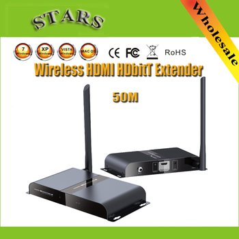 1080P 50M/164Ft LKV388 Wireless HDbitT HDMI WIFI Range Extender Transmitter&Receiver Repeater With IR Remote for HDTV Projector