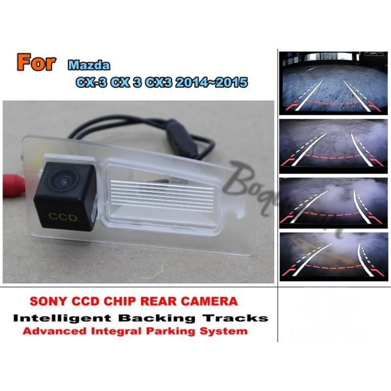 For Mazda CX-3 CX 3 CX3 2014~2015 Smart Tracks Chip Camera / HD CCD Intelligent Dynamic Parking Car Rear View Camera for renault duster 2010 2014 smart tracks chip camera hd ccd intelligent dynamic parking car rear view camera