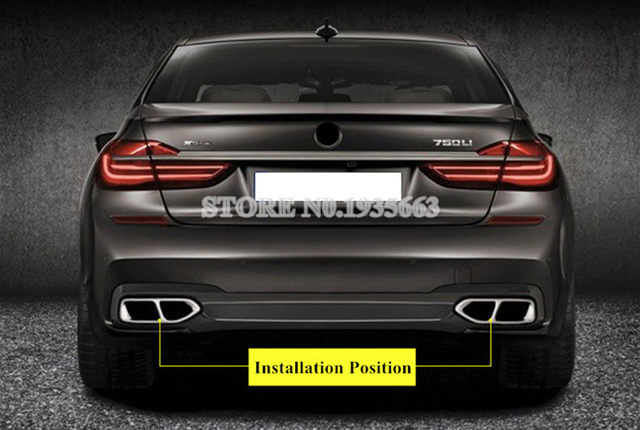 Online Shop For BMW 7 Series G11 G12 Rear Exhaust Muffler Tail Pipe