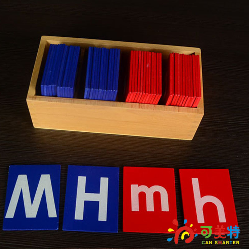 Montessori Education Capital and small Alphabet  Beech Wood Language  toys Early educational toys Can Smarter Free Shipping купить