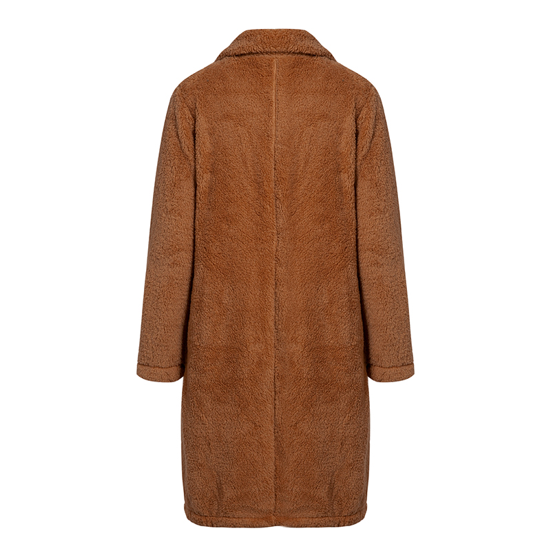Conmoto Women Winter Suede Jacket 19 Fashion Teddy Bear Caramel Long Coat Female Long Sleeve Faux Fur Coat Fluffy Outerwear 10