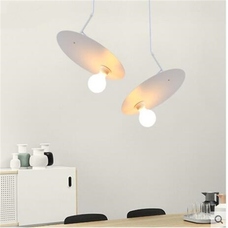 Nordic minimalist creative pendant lights modern dining room lights led ufo light living room kitchen moon pendant lamp LO7192 nordic american modern minimalist creative led pendant lights living room dining glass three head pastoral bird pendant lamps