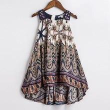 Girls Summer Dress Bohemian Style Printing Beach Dress Baby