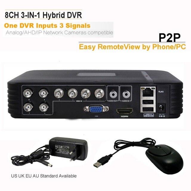 Guardelux 8CH Mini DVR Sistema de Seguridad H.264 CCTV En Tiempo Real DVR Grabador de Vídeo Digital Móvil