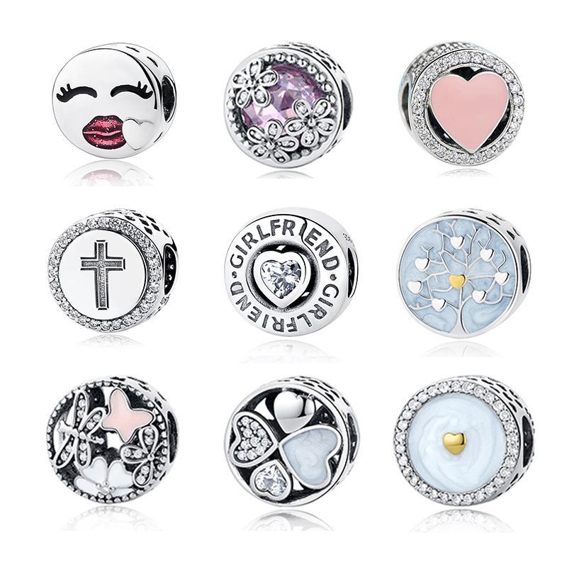 2018 Fit Original Pandora Charm Bracelet 100 925 Sterling Silver Beautiful Round Shape Bead Charm High