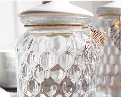 الزجاج جرة وعاء السكر الزجاجات التوابل الجرار ميسون جرة خزان التوابل لتزيين التوابل
