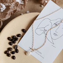 GWACC 2019 Original Design Freshwater Pearls Pendants Necklaces For Women Clavicle Necklaces Korean INS Trendy Necklaces Jewelry