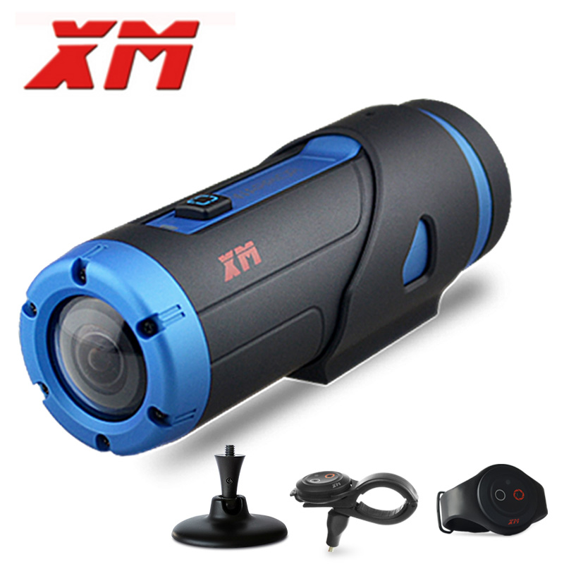 XM H.265 1080P HD Waterproof Starlight Night Vision Sports Camera Wifi Video DV Action Camera G sensor With 3 Accessories