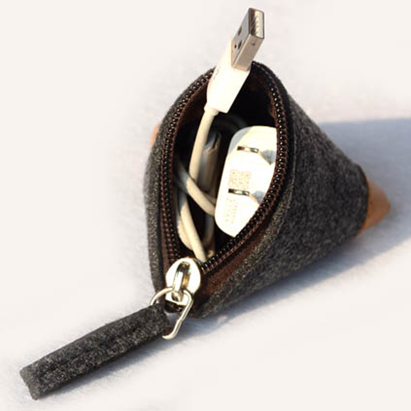 The Cheapest Price Cheap Fashion Coin Purse Wallet Women Men Coin Purses Wool Triangle Coin Small Change Pouch Bag Wallets Free Shipping Excellent Quality Coin Purses