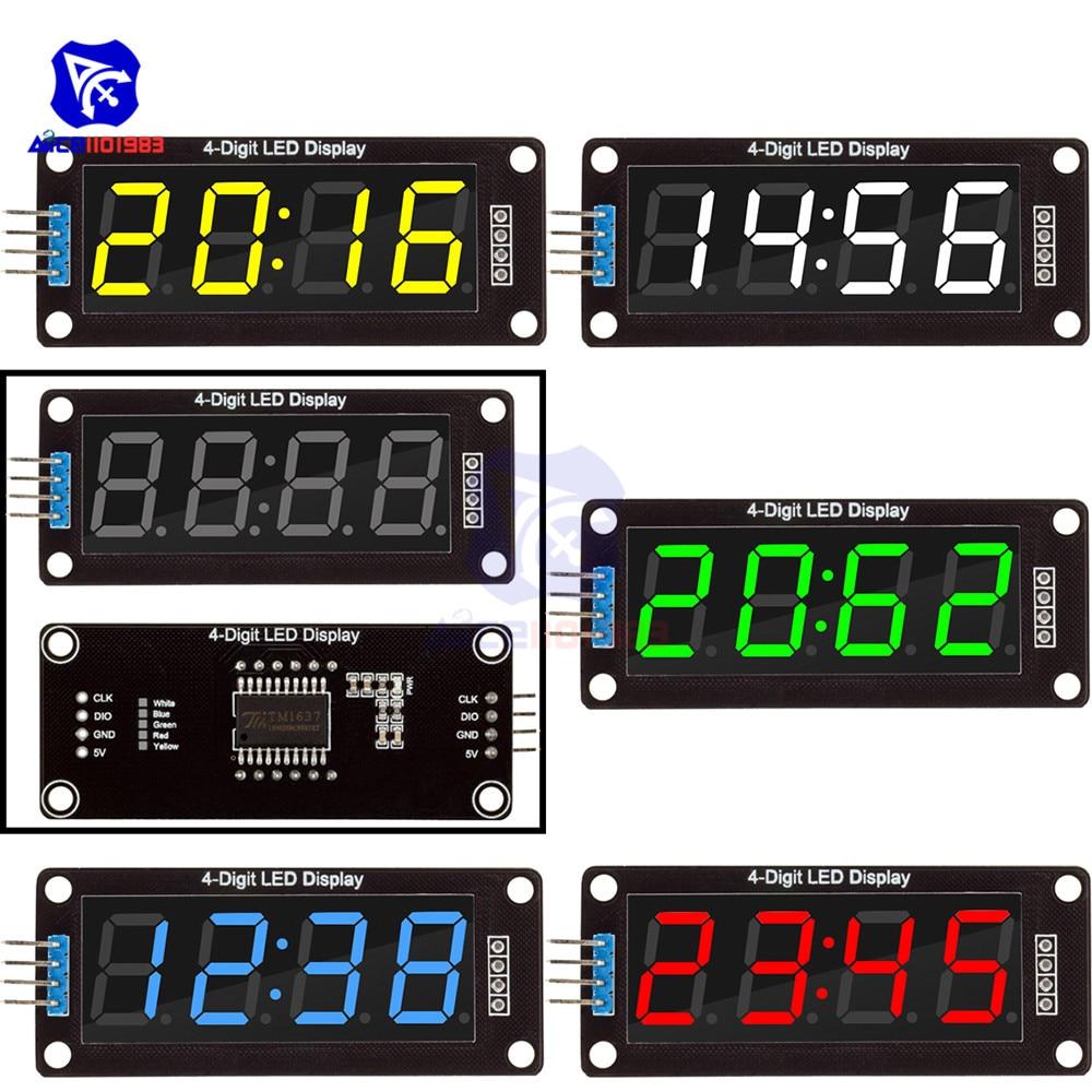 "0.36/"" TM1637 4-Digit Green Digital LED Display Clock Tube Display for Arduino"