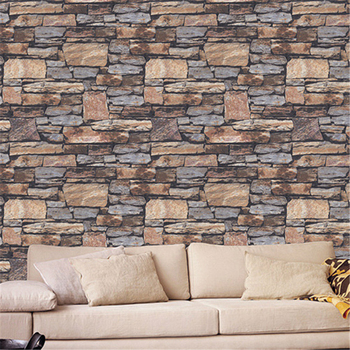 Beibehang 3D rock simulation wallpapers clothing store restaurant corridors stone texture vintage culture stone wallpaper фото