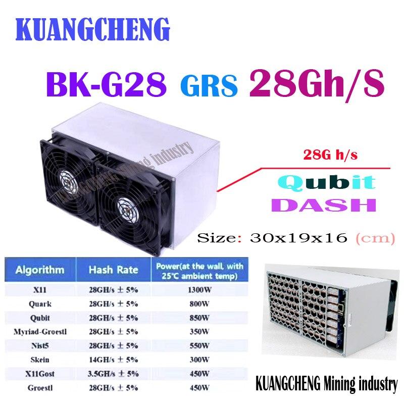 Kuangchung New The BK-G28 28GH/s GRS Miner X11/Quark/Qubit/Myriad-Groestl/Skein/Nist5/X11Gost/Groestl Better Than X10 Z9 Mini A9