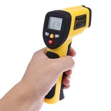 Wholesale -50- 850 Non Contact IR Infrared Thermometer LCD Display Digital Temperature Gun Temp Tester Dual Laser Infrared Thermometer
