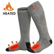 Серый Электрический 3,7-Вольт теплые носки для мужчин и женщин аккумуляторной батареи электронные сигареты электрические впитывающие Дышащие носки в зимний период