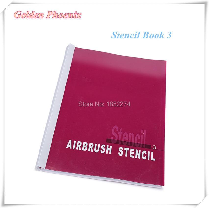 Stencil Book 3 Golden Phoenix Airbrush Tattoo Stencil For Temporary Body Paint Beauty Makeup 100 Designs