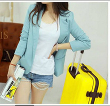 Schoolgirl Coats Ladies Long Sleeve Shrug Women Candy Color Jackets Suits Women's Suit Jackets Spring Autumn
